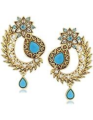VK Jewels Graceful Gold Plated Alloy Drop Earring Set For Women & Girls -ERZ1328G [VKERZ1328G]