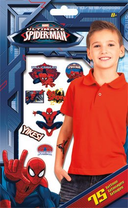 Spider-Man Temporary Tattoos - 75 tattoos - 1