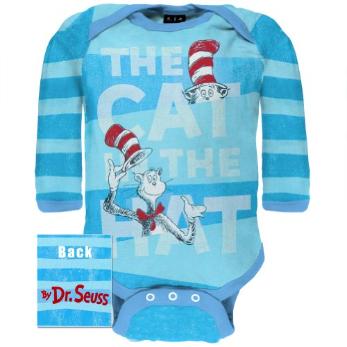 Dr. Seuss - Cat In The Hat Long Sleeve Baby One Piece