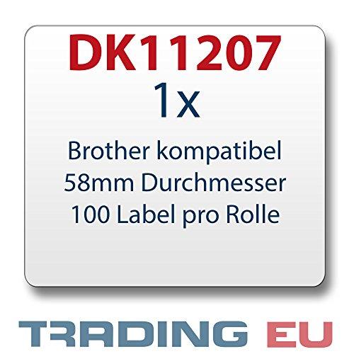 1 x Label Etiketten kompatibel