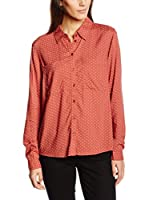 Tom Tailor Denim Camisa Mujer loose viscose blouse/512 (Rojo)