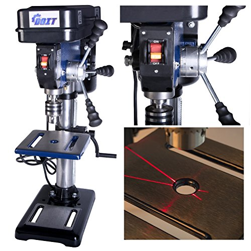 Summer Promotion 10-Inch 12 Speed Drill Press with Laser Trac (10-Inch 12 Speed Drill Press with Laser) (Standing Drill Press compare prices)