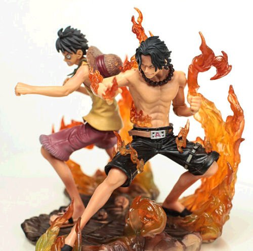 Japanese Anime One Piece 2 Years Later Luffy VS Ace PVC Action Figure Toys 2pcs