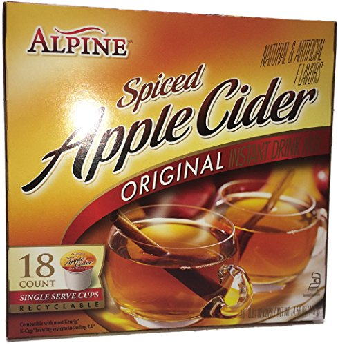 Alpine Spiced Apple Cider K Cup 18 Count (Pack of 2) (Bulk Apple Cider Mix compare prices)