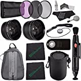 Greens Camera World 28mm 2x Telephoto Lens With Pouch + 28mm Wide Angle Lens + 28mm 3 Piece Filter Set (UV, CPL...