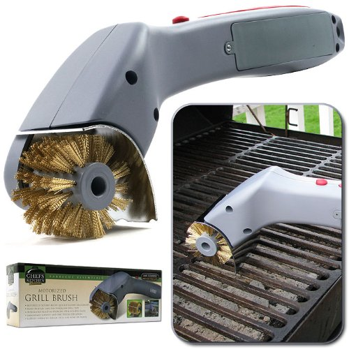 Chef BuddyT Cordless Motorized Outdoor Grill Cleaning Brush