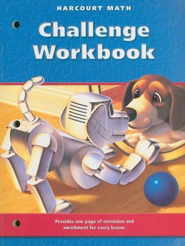 Math, Grade 3 Challenge Workbook: Harcourt School Publishers Math (Math 02 Y010)