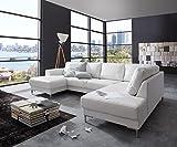 Couch Silas Weiss 300x200 cm Ottomane Rechts Designer...