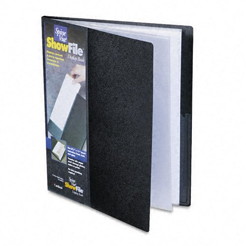Cardinal By Tops Products Spinevue Showfile Display Book With Wrap Pocket, 8.5 X 11 Inch Sheet Size, 12 Sleeves, Black (51132Cb) front-960308