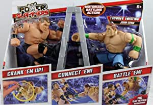 JOHN CENA & RANDY ORTON - WWE POWER SLAMMERS STARTER KIT MATTEL TOY WRESTLING ACTION FIGURES