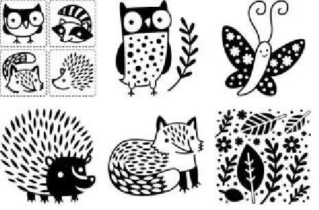 Forest Friends Rubbing Plates By Cedar Canyon Textiles