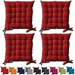 4er Set gepolsterte Sitzkissen - Stuh...