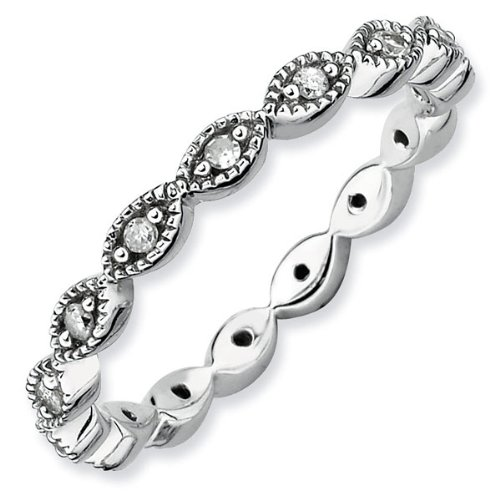 Infinity Diamond Stackable Ring 1/5ctw - Size 5