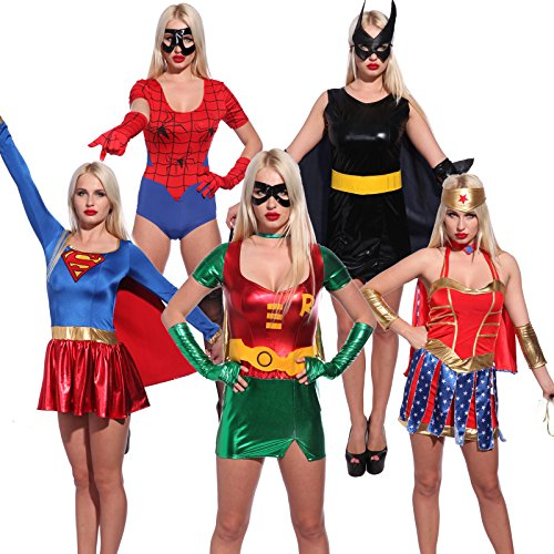 Sexy-Super-hero-Superwoman-Fancy-Dress-Role-Play-Outfit-Comic-Book-Movie-Costume