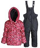 Pink Platinum Baby Girls Down Alternative Snowboard Puffer Coat and Snowpants - Fuchsia (24 Months)