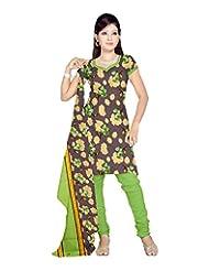 Sonal Trendz Women's Polyester Purple Printed Dress Material