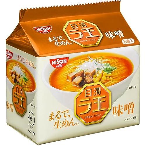 니신 라오(ラ王) 미소라멘 된장 소금 돈코츠간장 간장 맛 1팩(5개입)×6개
