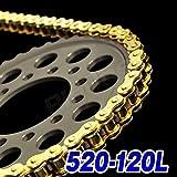 Big-One(ビッグワン) バイク チェーン 交換 520-120L クリップジョイント 強化Type ゴールド 11512