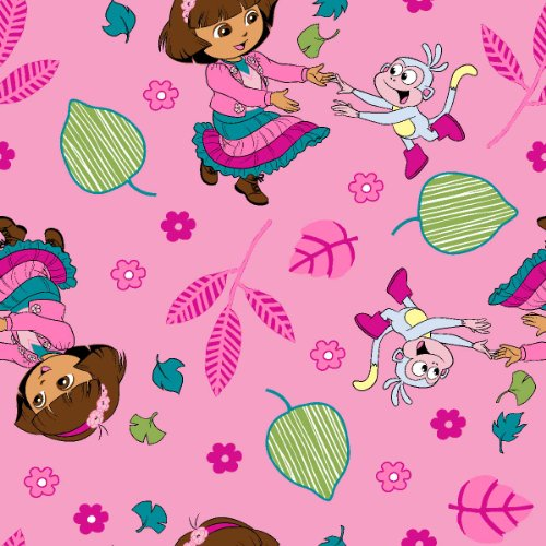 Nickelodeon No Sew Microfiber Throw Kit, Nickelodeon Dora Fall Fun, Pink