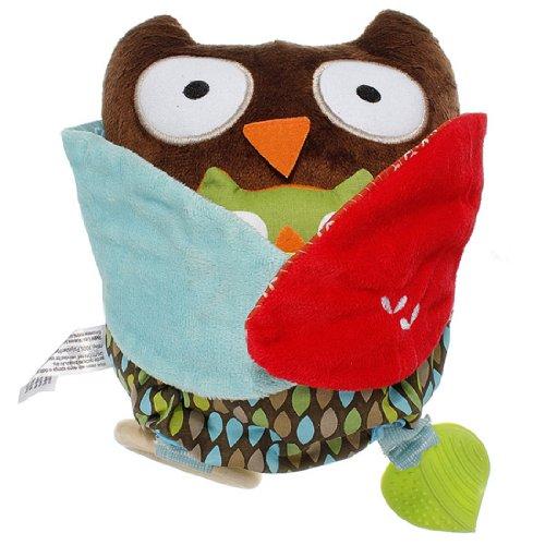 Baby Kids Hug And Hide Animal Dog Owl Bear Monkey Sheep Rattle Plush Toy Teether