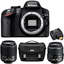 Nikon D3200 24.2 MP DX-format Digital SLR Camera (Black) 2 Lens Ultimate Wireless Bundle - Includes D3200 Body (Black), 18-55mm f/3.5-5.6G ED II AF-S DX Nikkor Zoom Lens, 55-200mm F/4-5.6G ED AF-S DX Zoom-Nikkor Lens, WU-1a Wireless Mobile Adapter, Nikon Deluxe SLR Carrying Case (Certified Refurbished)