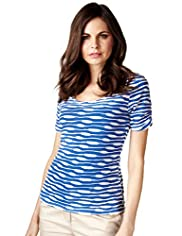 Per Una Ripple Striped Top