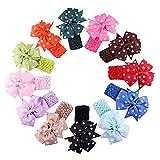 Produktbild von Tininna 12 Stück Niedlich Tupfen Bowknot Baby Kinder