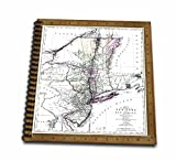 Florene-Vintage-Antique-1771-Map-Of-New-York-n-New-Jersey-Drawing-Book