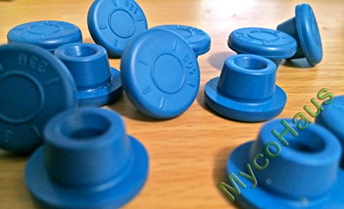 48 blue rubber bottle stoppers, self healing injection ports for mason jar lids (Autoclave Jars compare prices)
