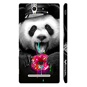 Enthopia Designer Hardshell Case Candy Panda Back Cover for Sony Xperia C3
