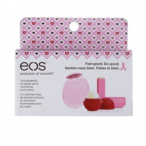 eos Limited Edition Breast Cancer Awareness Collection Lip Balm & Hand Lotion 3-Pack