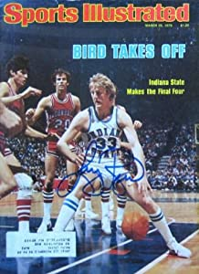 Buy Larry Bird autographed Sports Illustrated Magazine (Indiana State) Issue #4 by Autograph Warehouse