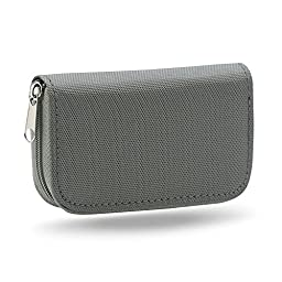Gilroy Micro SD Memory Card Case Storage Carrying Pouch Holder Wallet Grey