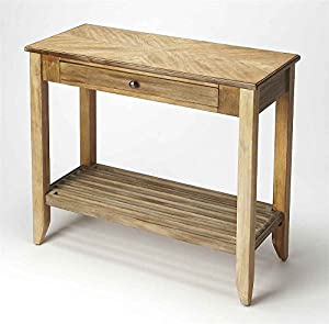 Console Table In Driftwood Finish