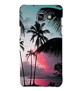 Fuson Premium Back Case Cover Coconut tree With yellow Background Degined For Samsung Galaxy A5(2016)::Samsung Galaxy A5 A510F