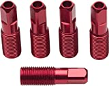 Easton 5-Pack of External Threadead 17mm Red Alloy Spoke Nipples