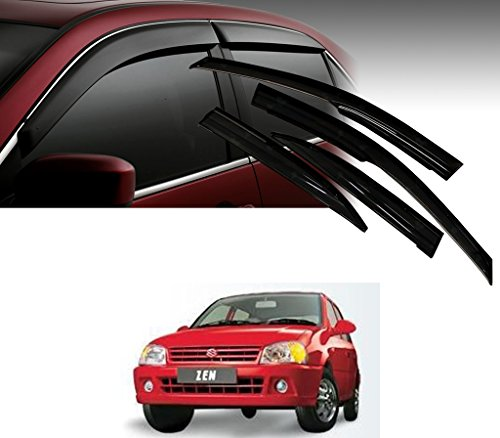 Auto Pearl - Premium Quality Car Rain Wind Door Visor Side Window Deflector For - Maruti Suzuki Zen - Set Of 4 Pcs  available at amazon for Rs.1199