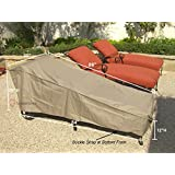 """Patio Chaise covers with Velcro 84""""L x 30""""W x 29""""H"""