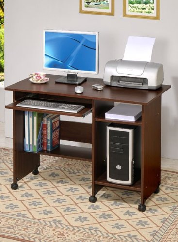 Buy Low Price Comfortable Home Office Computer Desk Contemporary Style in Dark Walnut (B004120JO0)