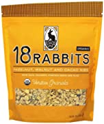 18 Rabbits Veritas Granola, Organic Hazelnut, Walnut and Cacao Nib, 12 Ounce Bag by 18 Rabbits