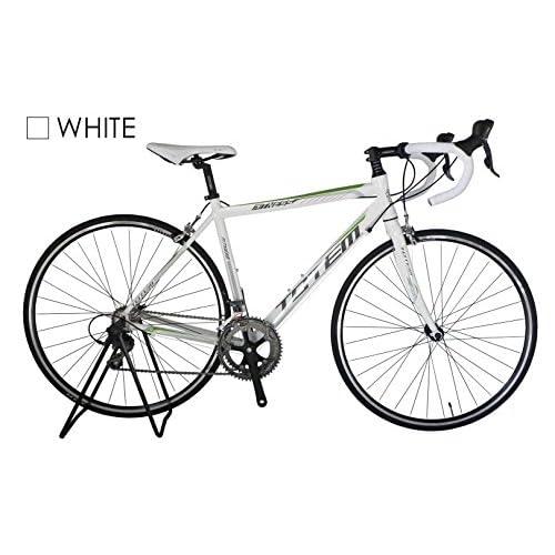 【超軽量】ロードバイク TOTEM 13B407 白 超軽量アルミフレーム 700×50cm