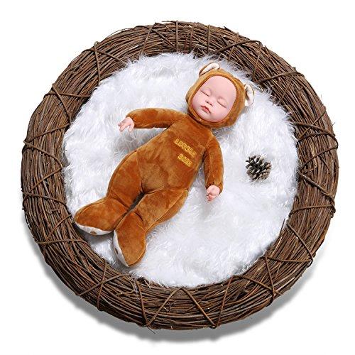 sunmig-newborn-baby-photo-props-faux-fur-mat-rug-photography-background-backdrops-basket-stuffer-bla