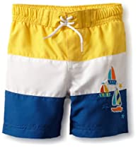 Little Me Baby-boys Infant Sailboat Swimtrunk, Blue Multi, 18 Months