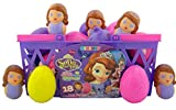 Disney's Sofia the First Candy Filled Easter Eggs in Basket, 18 Pack