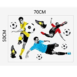 Generic 3D Play Football Soccer Wall Art Sticker Kids Bedroom Mural Wallpaper Decor