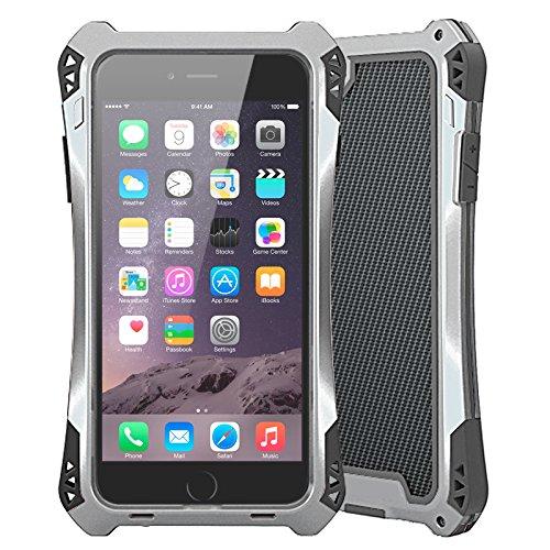 Oittm iphone6用 生活防水・防塵・耐衝撃 ケース (シルバー+ブラック)