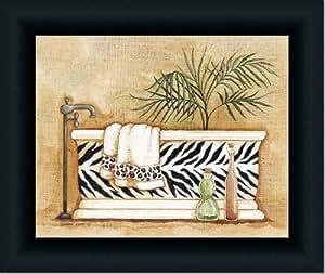 Safari i zebra leopard decor bath room art for Bathroom paintings amazon