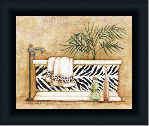 Safari I Zebra Leopard Decor Bath Room Art Print Framed front-926450
