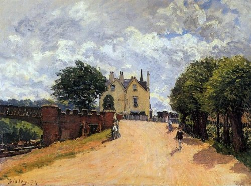 alfred-sisley-inn-at-east-molesey-with-hampton-court-bridge-185-x-245-premium-canvas-print-gallery-w