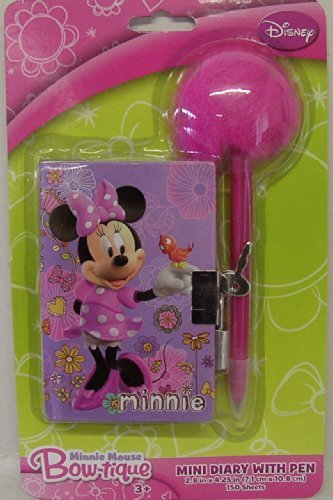 Disney Minnie Mouse Bow-tique Mini Diary with Pen